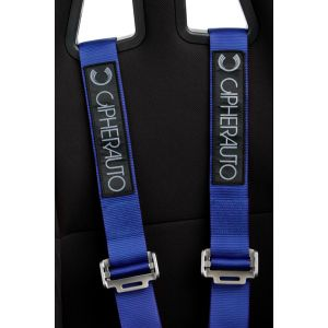Cipher Auto ® - Blue 4 Point 2 Inches Camlock Quick Release Racing Harness Set (CPA4001BL)