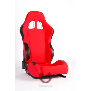 Cipher Auto ® - Red Cloth Universal Racing Seats (CPA1007FRD)