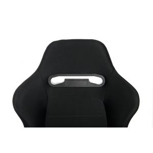 Cipher Auto ® - Black Cloth with Grey Outer Stitching Universal Racing Seats (CPA1013FBK-G)