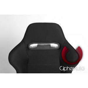 Cipher Auto ® - Black Cloth Universal Racing Seats (CPA1013FBK)