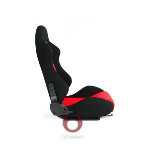 Cipher Auto ® - Black and Red Cloth Universal Racing Seats (CPA1013FBKRD)