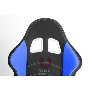 Cipher Auto ® - Black and Blue Cloth Universal Racing Seats (CPA1017FBKBU)
