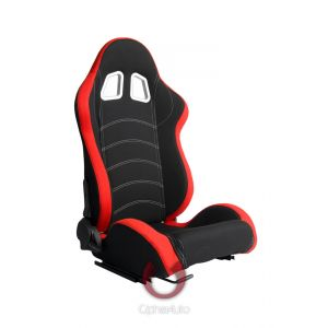 Cipher Auto ® - Red and Black Cloth Universal Racing Seats (CPA1018FRDBK)