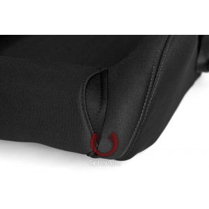 Cipher Auto ® - Black Cloth with Outer Grey Stitching Universal Racing Seats (CPA1019FBK-G)