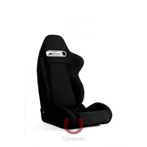 Cipher Auto ® - Black Cloth with Outer Red Stitching Universal Racing Seats (CPA1019FBK-R)