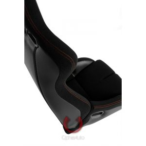 Cipher Auto ® - Black Cloth and Black Carbon PU with Red Stitching Universal Viper Racing Seats (CPA2002CFBK-R)