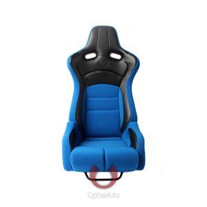 Cipher Auto ® - Blue Cloth with Black Carbon PU Universal Viper Racing Seats (CPA2002CFBKBU)