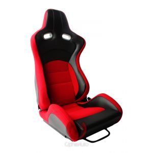 Cipher Auto ® - Red with Black Carbon PU Universal VP-8 Racing Seats (CPA2003CFBKRD)