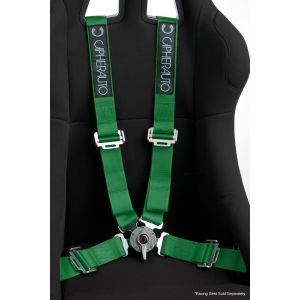 Cipher Auto ® - Green 4 Point 2 Inches Camlock Quick Release Racing Harness Set (CPA4001GN)