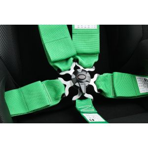 Cipher Auto ® - Green 5 Point 3 Inches Camlock Racing Harness SFI 16.1 (CPA4005GN)