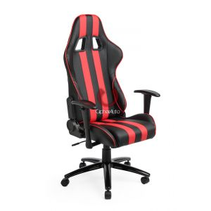 Cipher Auto ® - Black with Red Stripes Leatherette Office Racing Seat (CPA5001PBK-RS)
