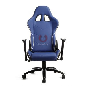 Cipher Auto ® - Blue Leatherette Office Racing Seat (CPA5001PBUBK)