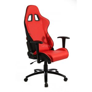 Cipher Auto ® - Red Leatherette Office Racing Seat (CPA5001PRDBK)