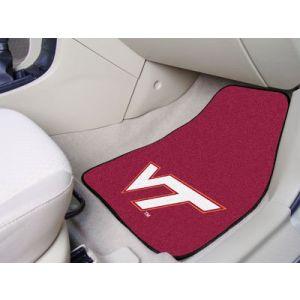 Fanmats ® - Pair of Virginia Tech Universal Carpet Front Floor Mats (5421)
