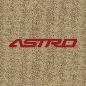 Lloyd Mats ® - Classic Loop Black Front Floor Mats For Chevrolet Astro 1985-05 With Astro Embroidery
