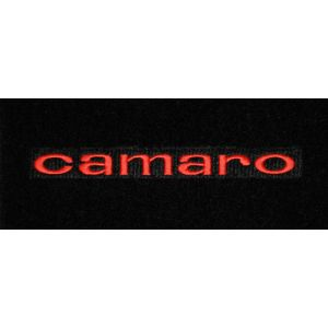 Lloyd Mats ® - Classic Loop Black Front Floor Mats For Chevrolet Camaro 1967 with Camaro Red Embroidery