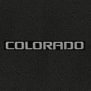 Lloyd Mats ® - Classic Loop Black Front Floor Mats For Chevrolet Colorado 2004-16 With Colorado Silver Applique