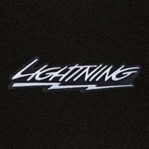 Lloyd Mats ® - Classic Loop Black Front Floor Mats For F-150 Lightning SVT with Silver Lightning Logo