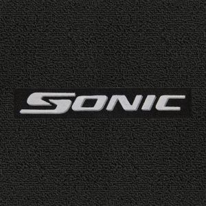 Lloyd Mats ® - Classic Loop Ebony Front Floor Mats For Chevrolet Sonic 2012-17 with Sonic Silver Logo