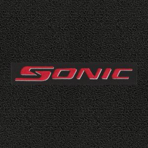Lloyd Mats ® - Classic Loop Ebony Front Floor Mats For Chevrolet Sonic 2012-17 with Sonic Red Logo