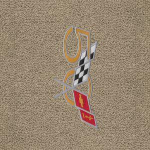 Lloyd Mats ® - Classic Loop Shale Front Floor Mats For Corvette C5 with 50th Anniversary Corvette Applique1997-2004