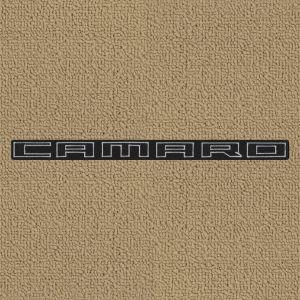Lloyd Mats ® - Classic Loop Tan Front Floor Mats For Chevrolet Camaro with Camaro Black Script Applique