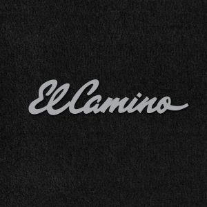 Lloyd Mats ® - Velourtex Black Front Floor Mats For Chevrolet El Camino 1965 With El Camino Red Embroidery