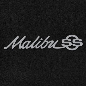 Lloyd Mats ® - Velourtex Black Front Floor Mats For Chevrolet Malibu 1964-65 with Malibu SS Silver Embroidery