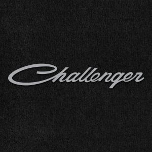 Lloyd Mats ® - Velourtex Black Front Floor Mats For Dodge Challenger 1970-74 with Challenger Silver Embroidery