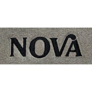 Lloyd Mats ® - Velourtex Pick Front Floor Mats For Chevrolet Nova 1975-79 With Nova Embroidery