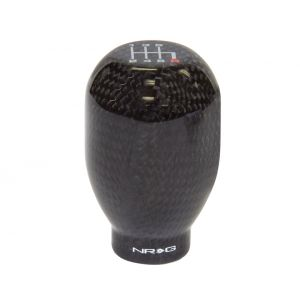 NRG ® - 42mm 6 Speed Black Carbon Fiber Heavy Weight Universal Shift Knob 480g / 1.1lbs (SK-100BC-1-W)