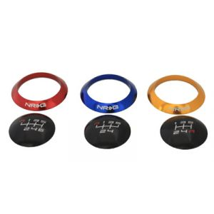NRG ® - Black Shift Knob With 4 Interchangeable Rings (SK-016BK)