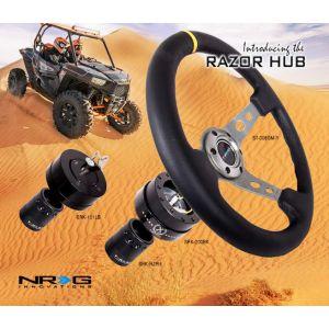 NRG ® - Black Short Spline Adapter Secures with OEM Lock Nut (SRK-RZRH)