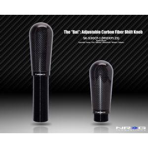 NRG ® - Carbon Fiber Bat Adjustable Shift Knob (SK-530CF-1)