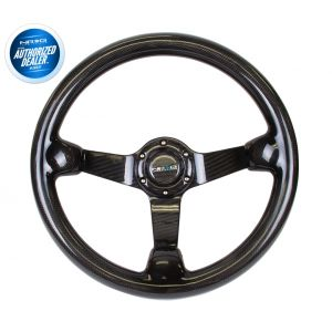 NRG ® - Carbon Fiber Steering Wheel Deep Dish with Carbon Fiber Spokes (ST-036CF)