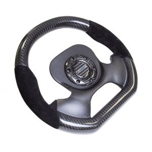 NRG ® - Carbon Fiber Steering Wheel with Black Suede combination and Carbon Fiber Center Plate (ST-X10CF-S)