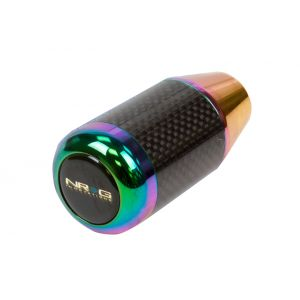 NRG ® - Neo Chrome And Real Carbon Fatboy Style Universal Shift Knob (SK-400BC/MC)