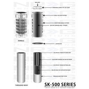 NRG ® - Neochrome Stealth Adjustable Shift Knob (SK-500MC-2)