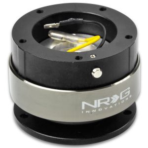 NRG ® - Quick Release Black Body and Black Ring with 6 Hole Base and 5 Hole Top (SRK-330BK)