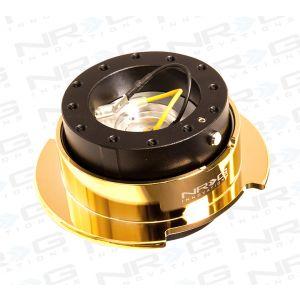 NRG ® - Quick Release Black Body with Chrome Gold Ring (SRK-250BK-C/GD)