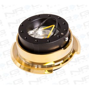 NRG ® - Quick Release Black Body with Diamond Cut Chrome Gold Ring (SRK-280BK-C/GD)
