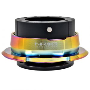NRG ® - Quick Release Black Body with Diamond Cut Neochrome Ring (SRK-280BK-MC)
