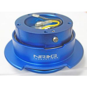 NRG ® - Quick Release Blue Body and Blue Ring with 5 Hole (SRK-350BL)