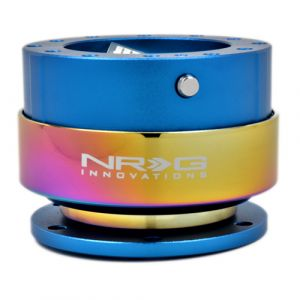 NRG ® - Quick Release Blue Body with Neochrome Ring (SRK-200BL-MC)
