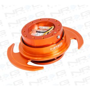 NRG ® - Quick Release Orange Body and Orange Ring with Handles (SRK-650OR)