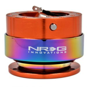 NRG ® - Quick Release Orange Body with Neochrome Ring (SRK-200OR-MC)