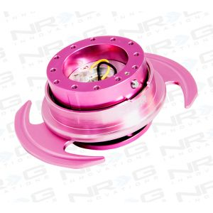 NRG ® - Quick Release Pink Body and Pink Ring with Handles (SRK-650PK)
