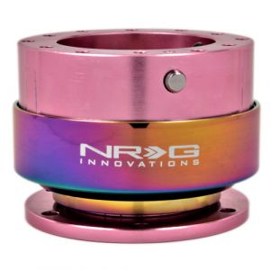 NRG ® - Quick Release Pink Body with Neochrome Ring (SRK-200PK-MC)
