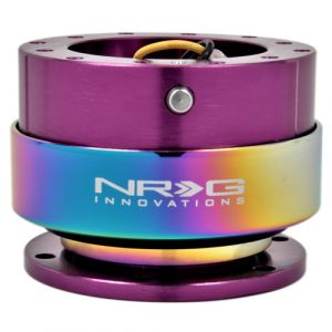 NRG ® - Quick Release Purple Body with Neochrome Ring (SRK-200PP-MC)