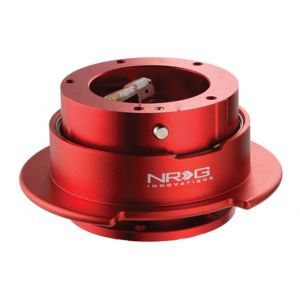 NRG ® - Quick Release Red Body and Red Ring with 5 Hole (SRK-350RD)